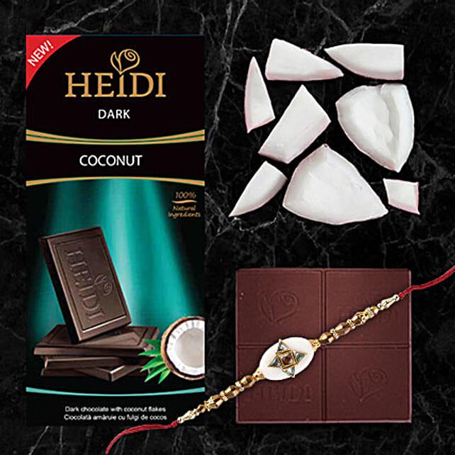 Heidi Coconut Dark Chocolate And Rakhi Combo