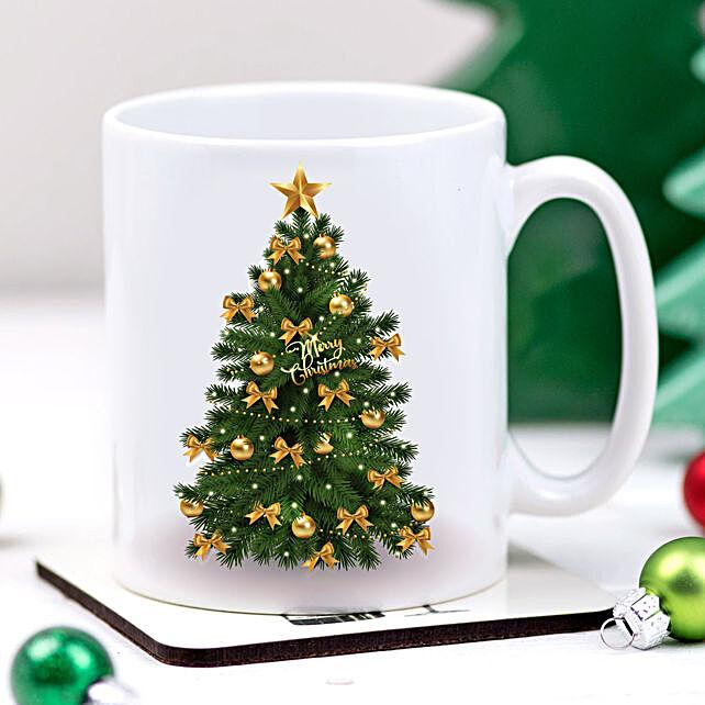 Christmas Tree Printed Mug:Send Gifts to Hungary