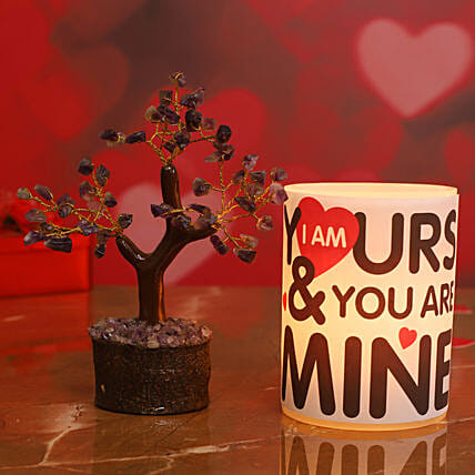 Cute Love Quote Hollow Candle