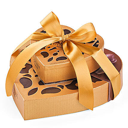 Dual Exotic Heart Chocolate Boxes:Valentines Day Gift Hungary