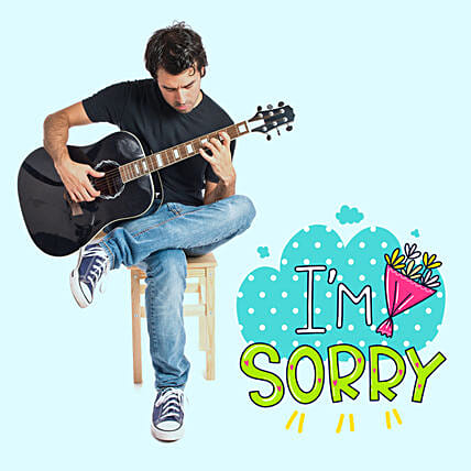 Musical I Am Sorry Tunes:Guitarist On Video Call In Hungary