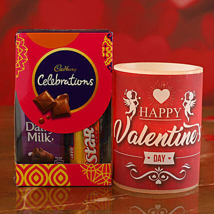 V Day Special Hollow Candle