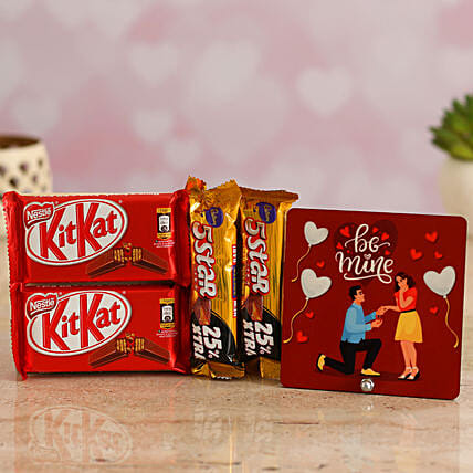 Chocolates Gift Combo & Valentines TableTop for Wife