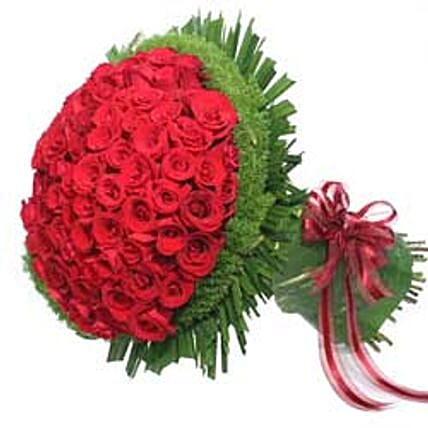 Bunch of 100 roses-INDO:Valentines Day Roses to Indonesia