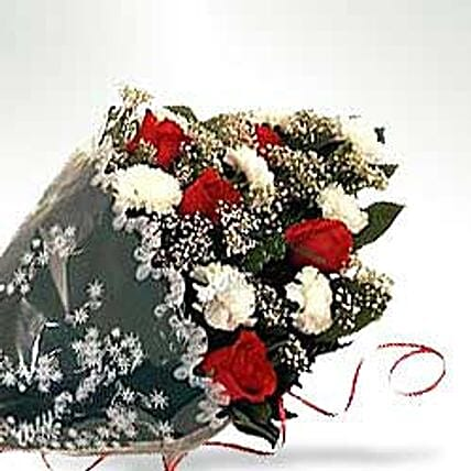Bunch of Carnations & Roses-INDO:Send Flowers to Indonesia
