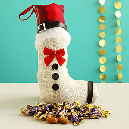 Choclairs Candy In Red & White Xmas Stocking