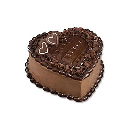 Chocolate Heart Cake:Cake Delivery in Indonesia