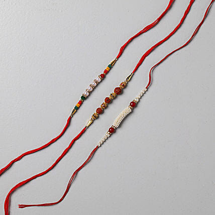 Delightful Rakhi Set Of 3