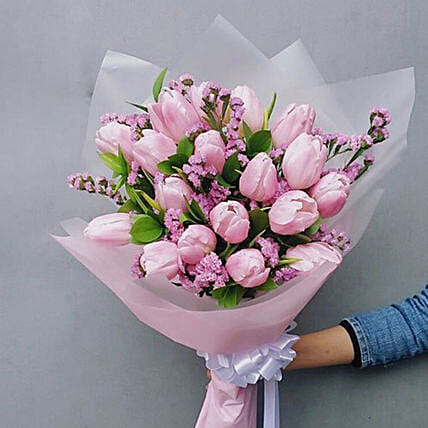 Exotic Tulips Bouquet:Send Mothers Day Gifts to Indonesia