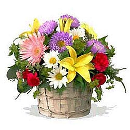 Mixed flower basket-INDO