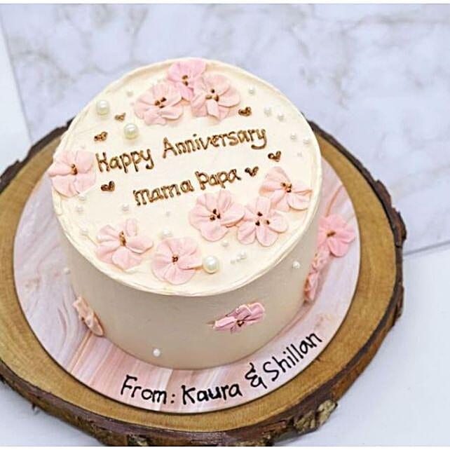 Pink Periwinkle Blackforest Cake