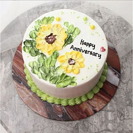 Shining Sunflower Blackforest Cake:Anniversary Cake Delivery in Indonesia