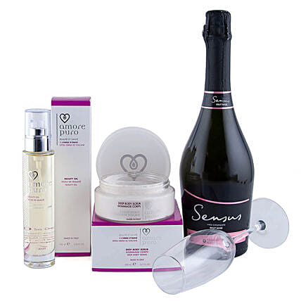 Exclusive Grooming Gift Set With Wine