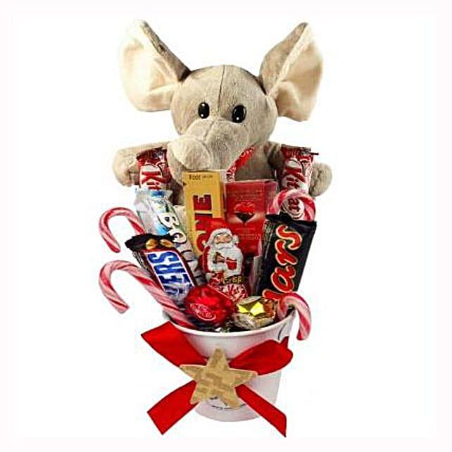 Sweet Elephant Christmas Bucket