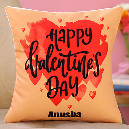 valentine day printed cushion for wife