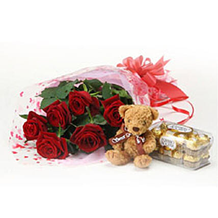 6Roses&Teddy&Chocolate