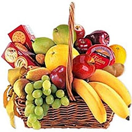 Cheese, Crackers & Fruit Basket-jor:Gift Delivery in Jordan