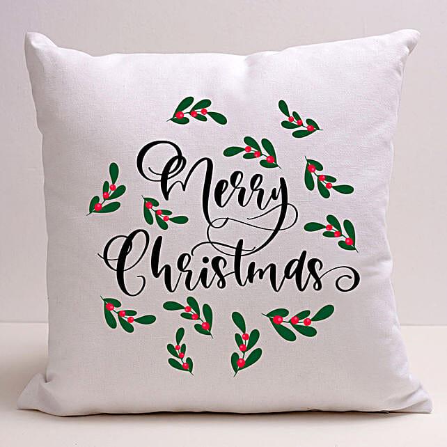 Pretty Merry Christmas Cushion:Send Gifts to Korea