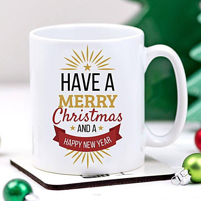 Xmas And New Year Greetings Mug:Send Gifts to Korea