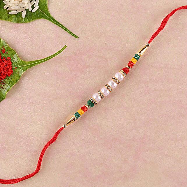 Colourful Lively Beads Rakhi