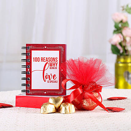 100 Reasons of Love n Chocolates:Romantic Gifts for Anniversary