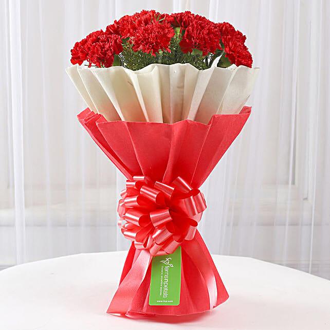Carnation Flower Bouquet:Valentines Day Carnations