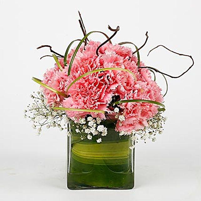 pink caranation celebration in vase