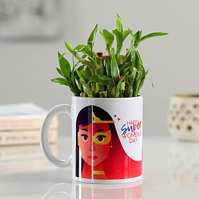 2 Layer Bamboo In Super Woman Mug