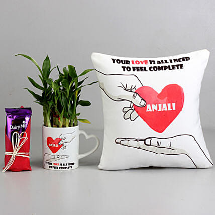 Valentine Chocolate, Cushion N Plant Combo