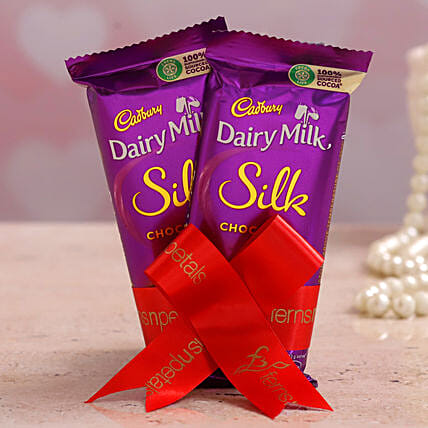 2 Pcs Cadbury Dairy Milk Silk Chocolates:Mothers Day Chocolates