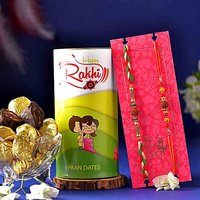 2 Rudraksha Mauli Rakhis N Chocolate Paan Dates