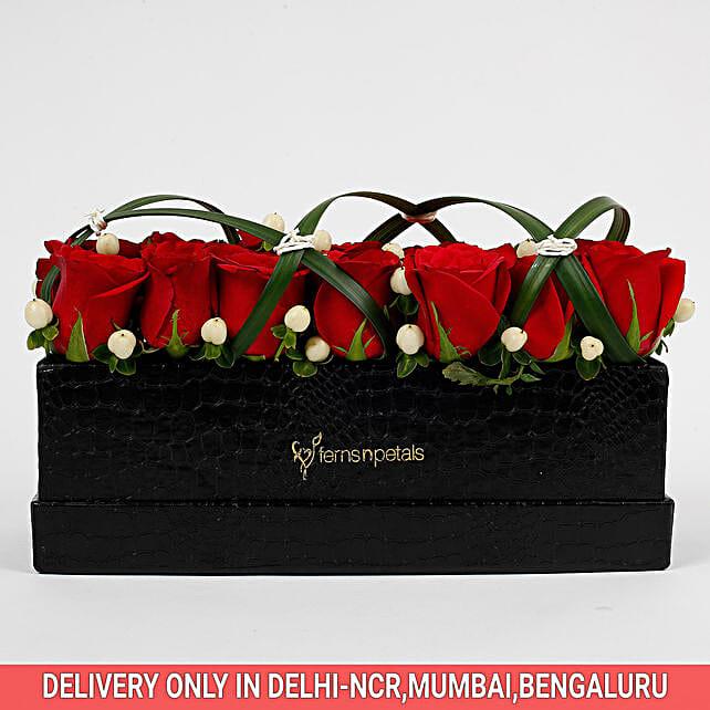 celebration of roses in beautiful box