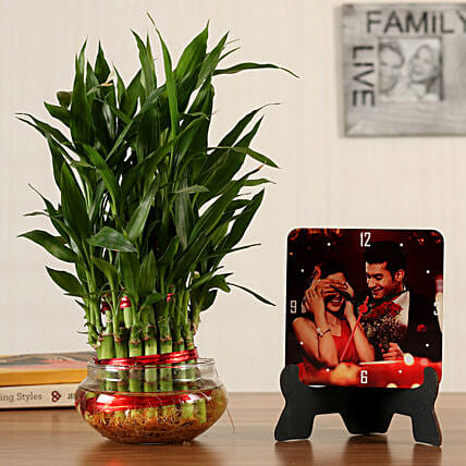 lucky bamboo n table clock online