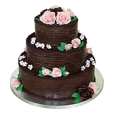 3 tier chocolate wedding cake 5kg