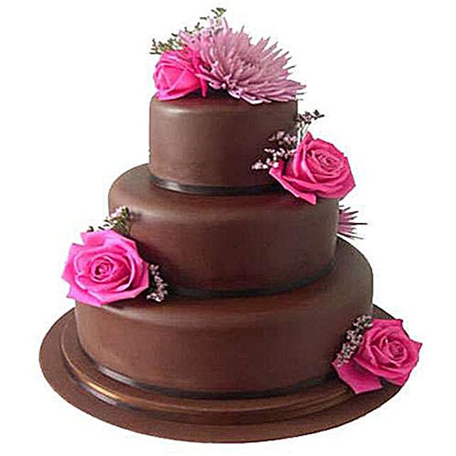 3 tier fondant truffle cake 5kg