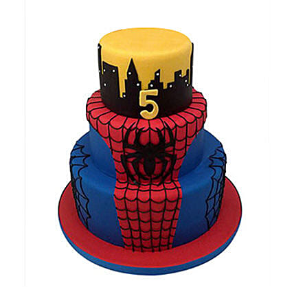 Spiderman cartoon cake 5kg