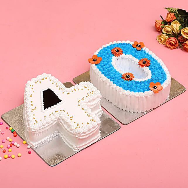 40 Number Black Forest Pineapple Cake