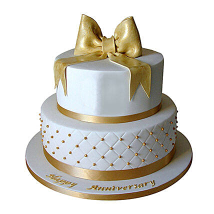Golden Jubilee Celebration cake 3kg:2 Tier Cake