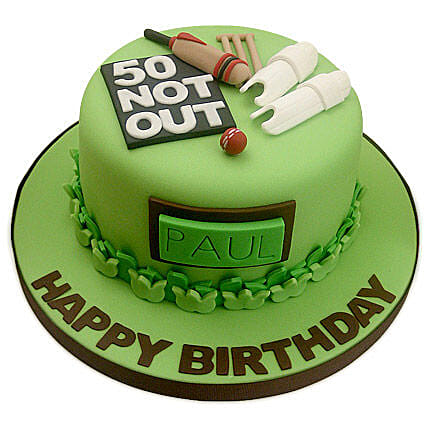 50th Birthday Cake 2kg:Cricket World Cup Gifts