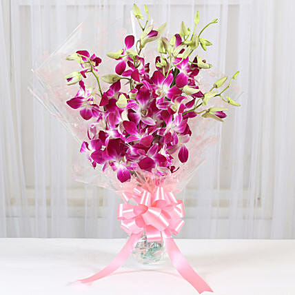 Beautiful Bunches Of Orchid:Purple Flowers
