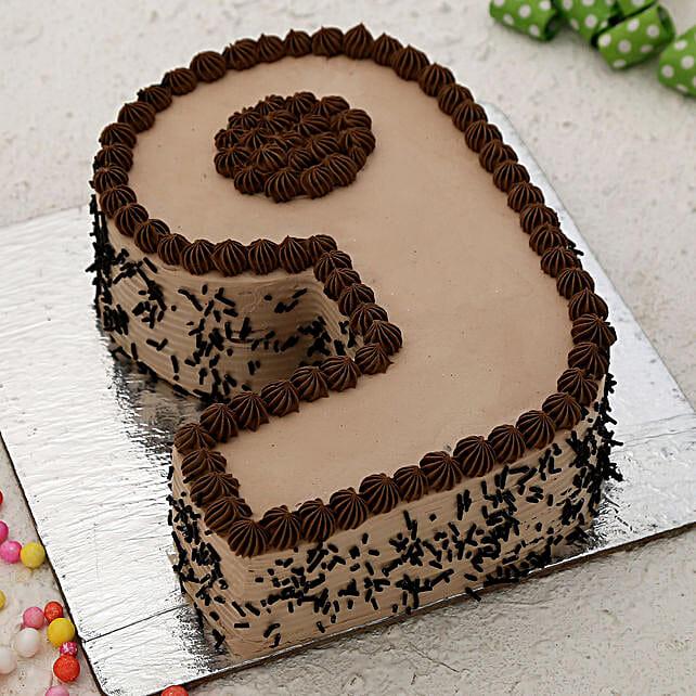 9 Number Chocolate Cake