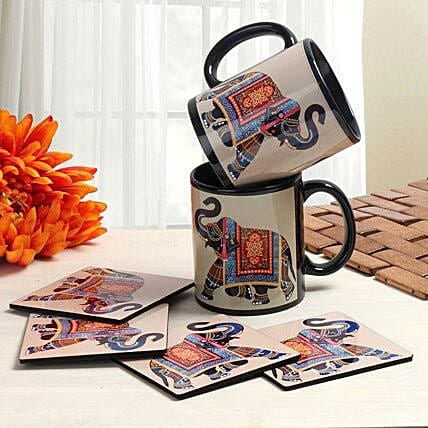 Mugs and coasters combo