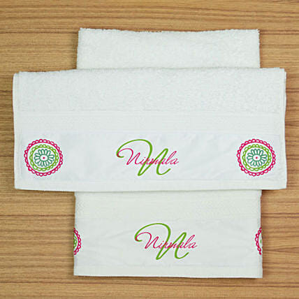Aesthetic Design Personalised Hand Towel Set
