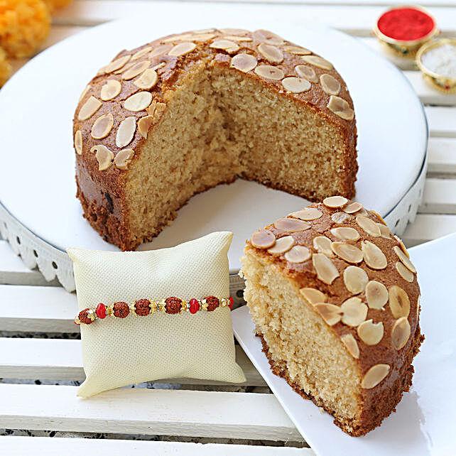 almond dry cake & designer rakhi online