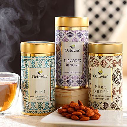 Online Almond and Tea Hamper:Tea Gift Hampers