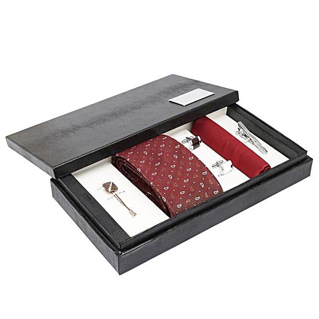 Matching Men's Suit Accessories Gift Set:Tie and Cufflinks