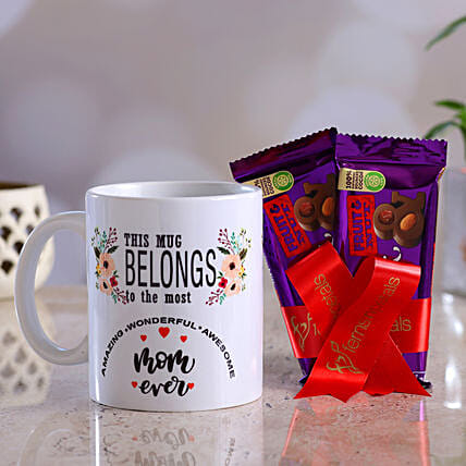 Amazing Mom Mug Dairy Milk Fruit N Nut Hand Delivery