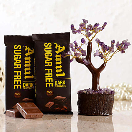 Amethyst Wish Tree Amul Sugar Free Dark Chocolate