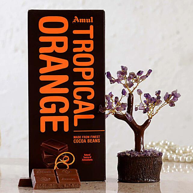 Amethyst Wish Tree Amul Tropical Orange Chocolate:Valentines Day Wish Trees