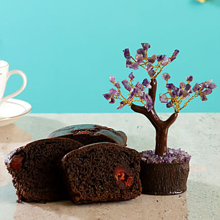 Amethyst Wish Tree Cherry Choco Dry Cake:Send New Year Gifts for Family